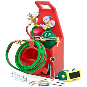 Professional Portable Torch Kit Oxygen Acetylene Oxy Welding Cut