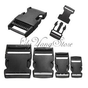 10pcs-Black-Plastic-Side-Quick-Release-Clasp-Buckles-Webbing-Strap-20-25-40-50mm