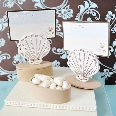 Wooden Shell Beach Theme Wedding Favor Boxes Place Card Holders ()