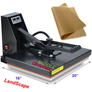 "16x20""  Heat Press For T-shirt printing w/ Start Kit Options"