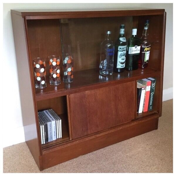 Retro bookcase, drinks cabinet, cupboard, display unit