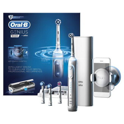 Braun Oral-B GENIUS 9000 Rechargeable Electric Toothbrush WHITE 220V~240V