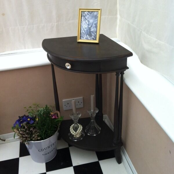 corner hall table. Corner Hall Table Or Lamp - Shabby Chic
