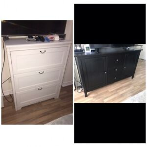 2 FOR $300 - IKEA drawer chest/TV stand/console