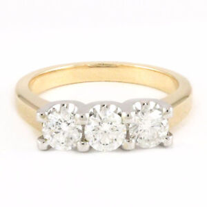 14k yellow/white gold 3-stone ring (3 diamonds, 1.57ct tdw) 3144