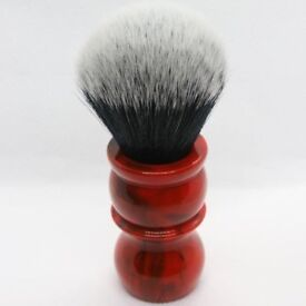 YaQi 26mm Tuxedo Red Marble Handle Shaving Brush