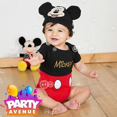 Disney Baby Mickey Mouse Bodysuit Vest Toddler Babies Costume - Baby Mickey Mouse Costume