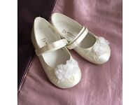 Monsoon flower girl shoes
