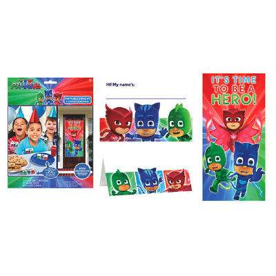PJ Masks Party Welcoming Kit Birthday Party Decoration Supplies ~ 12 Guests - Pj Party Supply
