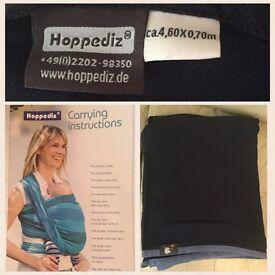 Hoppidez Baby toddler woven wrap carrier