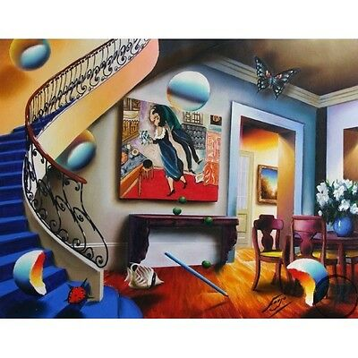 Ferjo Dining with Chagall S/N Giclee on Canvas