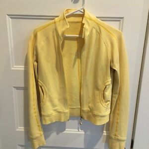 Yellow Lululemon zip up size 2-4