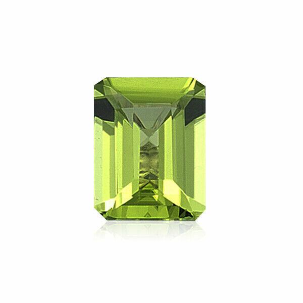 Natural Emerald Cut AAA Quality Loose Peridot Gemstone in 5x3MM-11x9MM