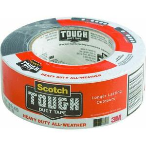12 pk 3m 1 88 x 45 yd scotch silver heavy duty outdoor duct tape 2245 a ebay for Exterior masking tape
