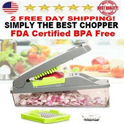 Mueller Vegetable & fruit Manual Chopper Slicer Dicer Cutter Onion  Pro NEW (Best Manual Vegetable Chopper)