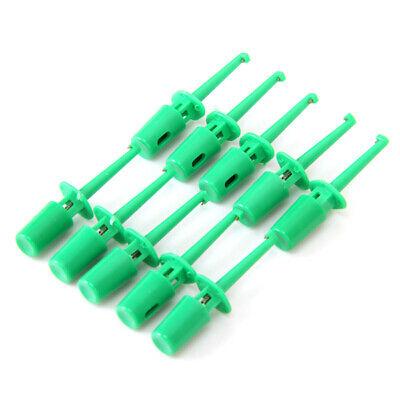 10 Mini Grabber Test Hook Probe Spring Clips For Pcb Smd Ic Multimeter Green