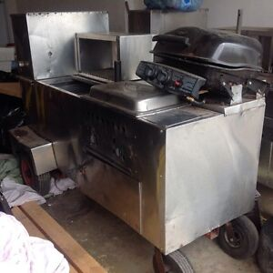 2 hot dog carts  hot/cold running water will post better pics