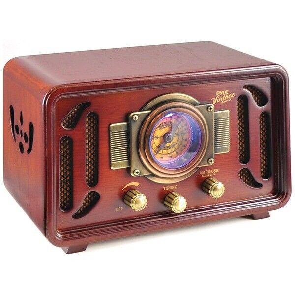Pyle Home PUNP34BT Retro-Style Bluetooth Radio Speaker System