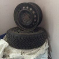 3 winter tires and 4 rims - can be sold separately