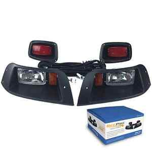 EZGO-TXT-ADJUSTABLE-GOLF-CART-HALOGEN-LIGHT-KIT-w-LED-TAIL-LIGHT