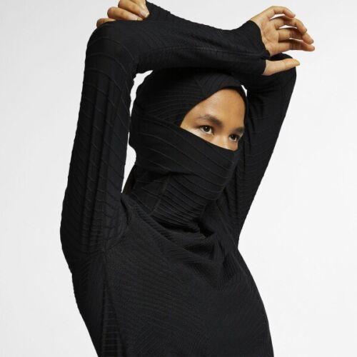 Nike Element Balaclava Women's Hoodie Top 932161-010 Black S