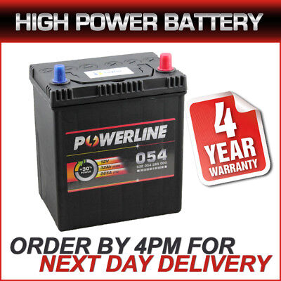 054 Powerline Car Battery fits many Chevrolet Daewoo Honda Hyundai Subaru Suzuki