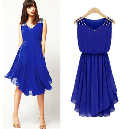 sexy women dress summer casual sleeveless party evening dres