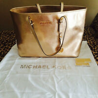 Michael Kors Gold Leather Bag - from London, UK.