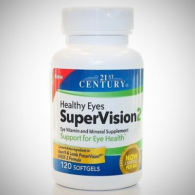 Healthy Eyes SUPERVISION 2 - 21st Century (Comp to PreserVision AREDS 2) 120ct  21st Century Healthy