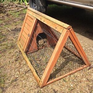 Triangle Wood Rabbit Hutch Pet Cage also for Guinea Pigs, Ferrets Stirling Adelaide Hills Preview