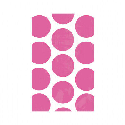 Candy Buffet Bright Pink Polka Dot Paper Treat Bags x 10