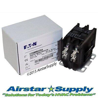 C25bnb225a Eaton Cutler Hammer Contactor - 25 Amp 2 Pole 110120v Coil