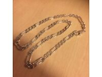 Stamped silver chain mens