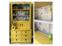Lovely hand painted 'Jaycee' dresser, display cupboard, bookcase, sideboard