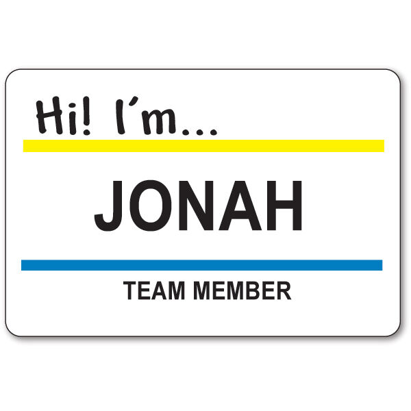 JONAH TEAM MEMBER BADGE & BUTTON HALLOWEEN COSTUME SUPERSTORE TV SHOW SAFETY PIN