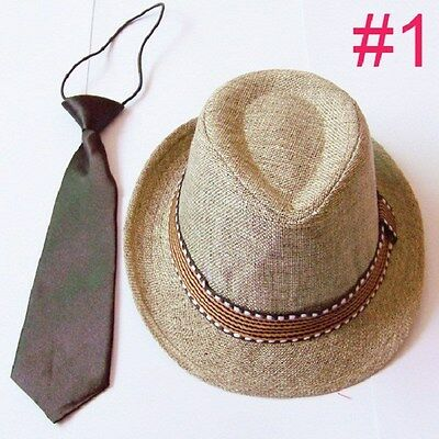 Kids, Children's and Toddler Boys & Girls Fedora Hat with Matching Tie ](Toddler Girl Fedora Hats)