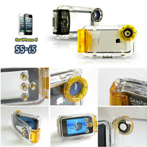New Seashell SS-i5 iPhone 5 Waterproof Photo Housing Diving 40m