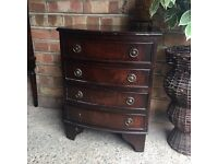 BEDSIDE TABLE ANTIQUE REGENCY STYLE FREE DELIVERY