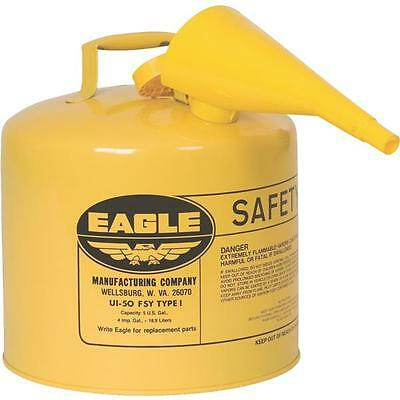 Eagle 5 Gal. Type I Diesel Safety Fuel Gas Can Galvanized Osha Nfpa Approved