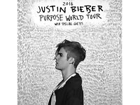 2x Justin Bieber Purpose Tour Tickets London Floor Seating