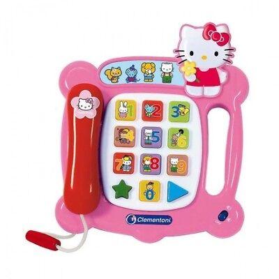 Kindertelefon Hello Kitty Telefon Licht & Sound Kinder Lernspielzeug Clementoni ()