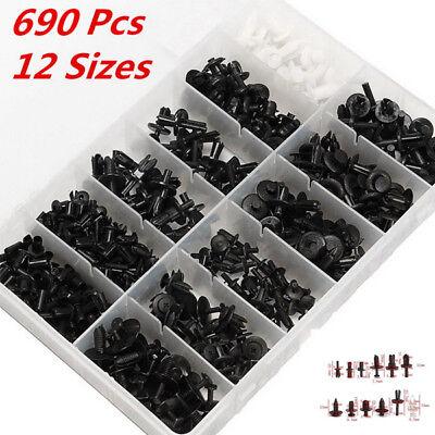 690pcs Car Automotive Push Pin Rivet Trim Clip Panel Body Kits Assortment