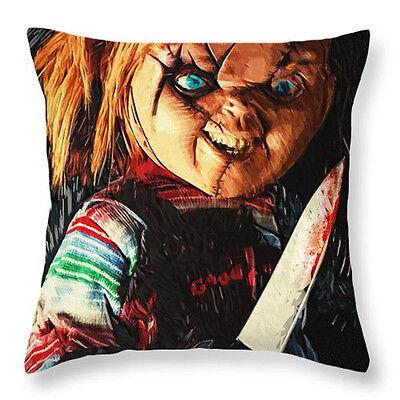 Halloween History Cartoon (Halloween Horrorable Story Print Throw Pillowcase Sofa Cushion Covers Home)