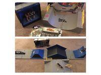 Tech Deck Triple sec combo ramp, 8 Tech deck boards & Tech deck carry case converts to skate park