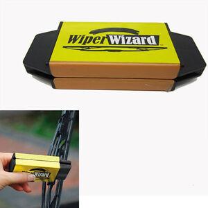 Car Van Wiper Wizard Windshield Wiper Blade Restorer Cleaner + 5 Wizard Wipes UK