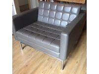 Natuzzi Large Retro Taupe Leather Armchair