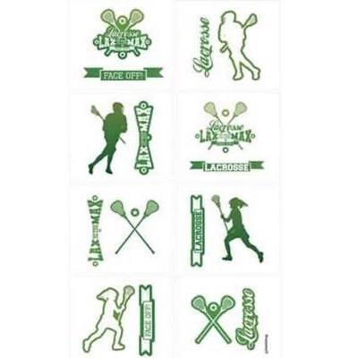8 Lacrosse tattoos Party Favors classroom rewards team spirit - Lacrosse Tattoos