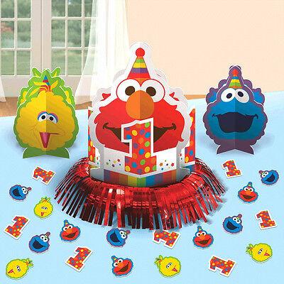 Sesame Street Elmo 1st Birthday Table Decorating Kit Party Supplies First ~ 23pc (Elmo 1st Birthday Supplies)