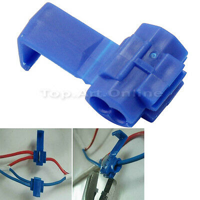 100Pcs-Blue-Electrical-Cable-Connectors-Quick-Splice-Lock-Wire-Terminals-Crimp