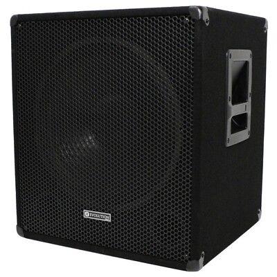 Evolution EL-SUB 15A 600W Active PA Subwoofer, Disco, Live, Sub Bass Bin